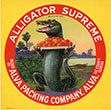 Alligator Supreme Citrus Label