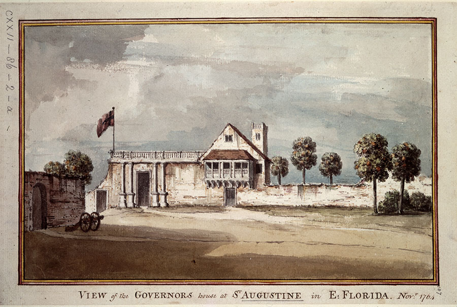 View of the Governor's house at St. Augustine in E. Florida