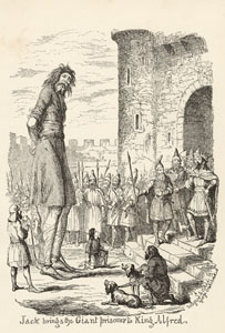 Jack brings the Giant Prisoner to King Alfred